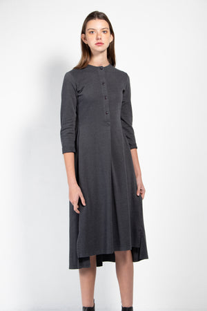 Ostrom Pique Back Flare Button Down Dress