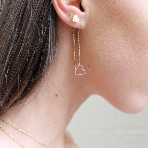 Heart String Earrings