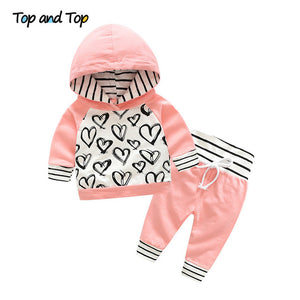 Top and Top Fashion Cute Infant Newborn Baby Girl Clothes
