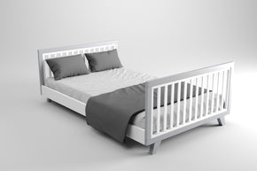 Expecting Again Package Grey - Chelsea Cot & Double Bed - Two pieces of Furniture assembled at the SAME TIME.