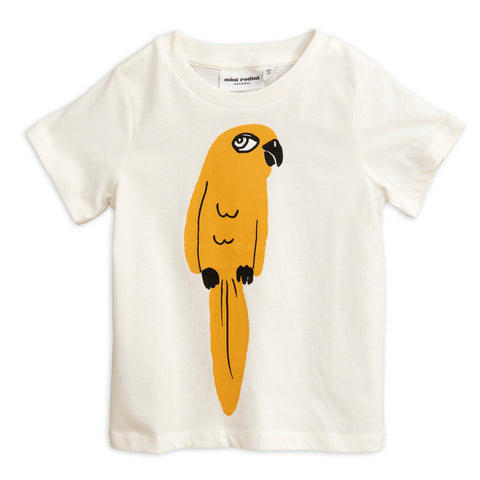 Mini Rodini Off White Parrot Tee