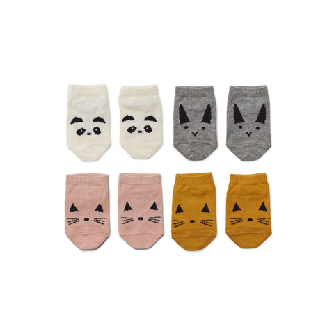 Liewood 'Fanny' Pink Baby Sock Four Pack