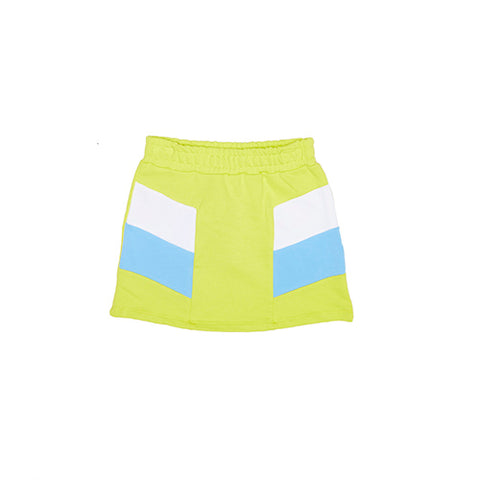 MSGM Yellow Colour Block Sweat Skirt
