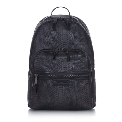 Tiba + Marl 'Elwood' Black Snake Backpack
