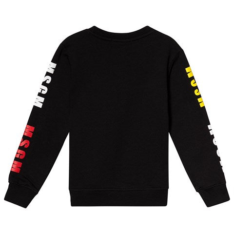 MSGM Black Triple Logo Sweat