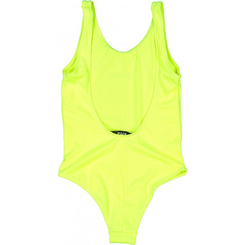 MSGM Yellow Triple Logo Swimsuit