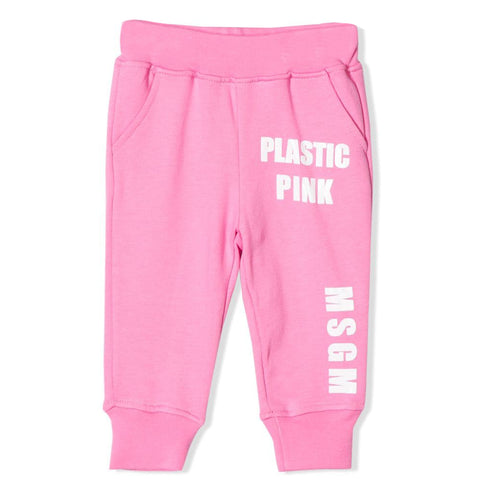 MSGM 'Plastic Pink' Sweat Pants