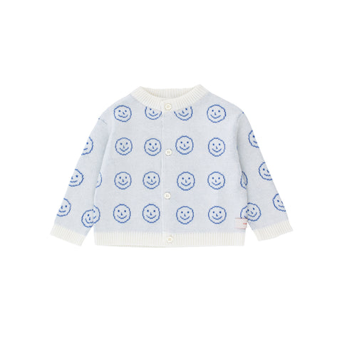 Tiny Cottons White 'Happy Face' Cardigan