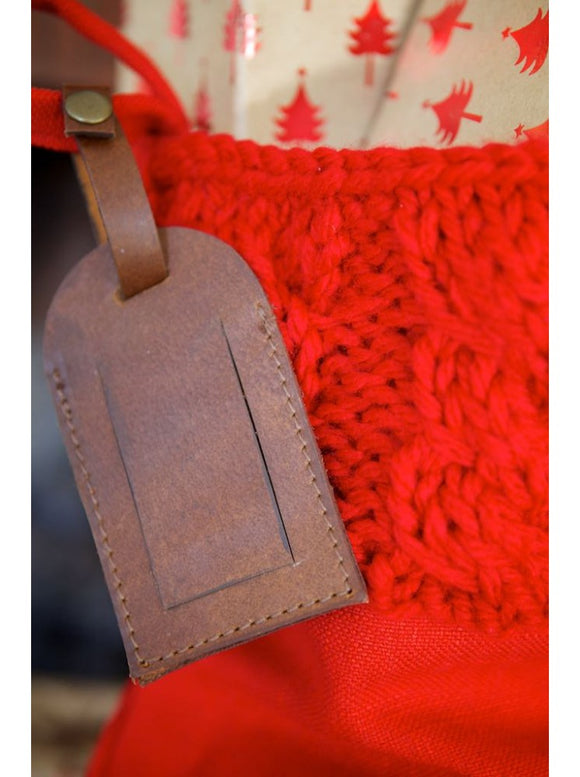 Red Cable Knit Luxury Stocking