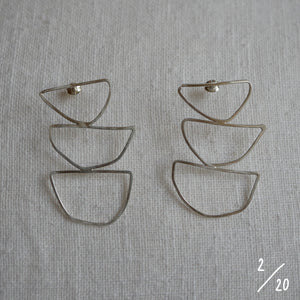 (2) 3 shapes earrings - By James Wilson
