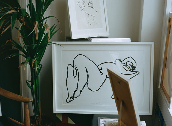 'A Woman Relaxing' (of/20) -  Screen Print - By James Wilson