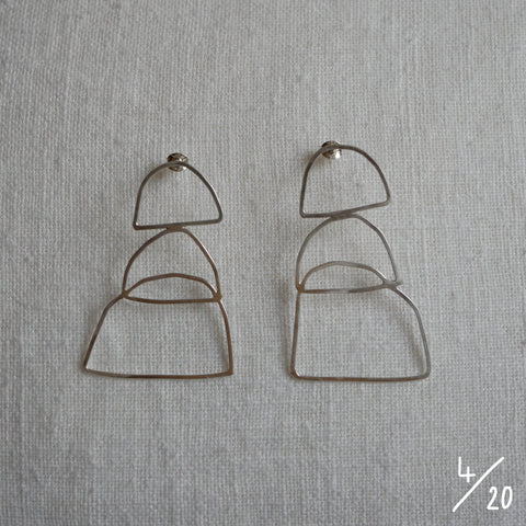 (4) 3 shapes earrings - By James Wilson