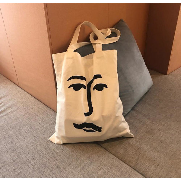 'Face' - Organic Day Bag - By James Wilson