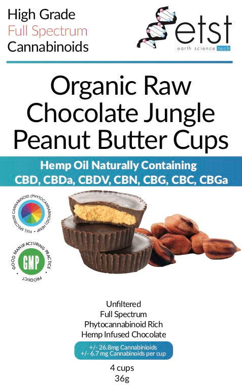 CBD Cannabidiol Dark Chocolate Peanut Butter Cups