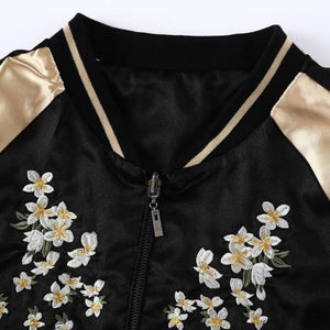 Floral Wings Jacket - Black Gold