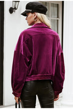 Load image into Gallery viewer, Shay Corduroy Jacket - Purple