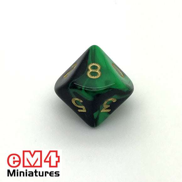 Oblivion Green D10 (0-9) Poly Dice
