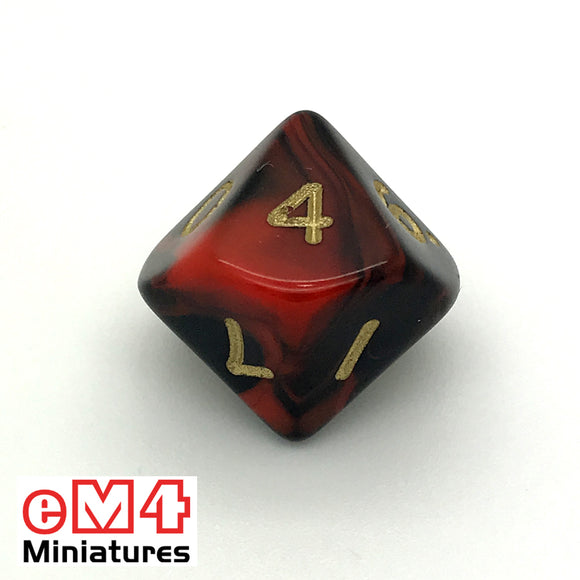 Oblivion Red D10 (0-9) Poly Dice