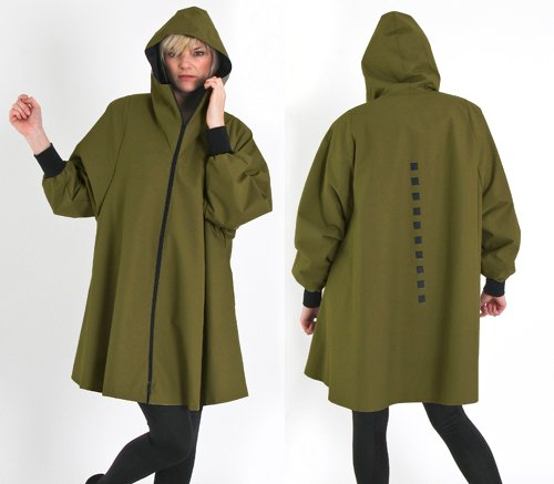 WINTER SWING HOOD. Olive.