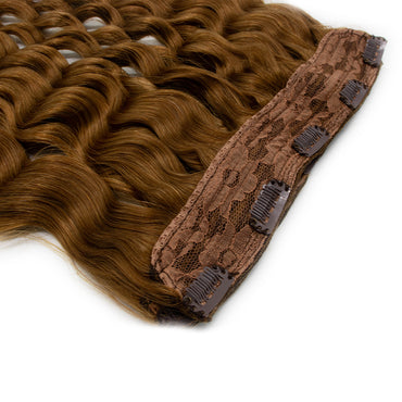 Clip in body wavy hair light brown color #27