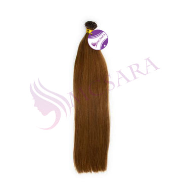 I tip straight hair light brown color