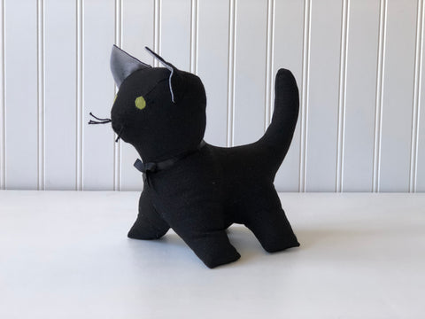 Black cat stuffed animal