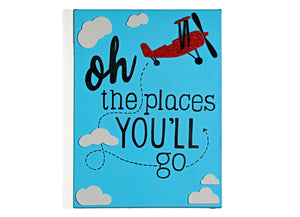 Oh the places you will go - Art on Canvas
