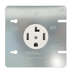 Cooper 30A 3-Pole Flush Power Dryer Receptacle