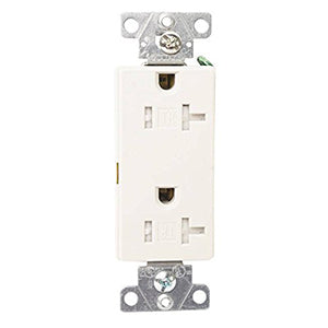 Cooper 20 Amps 2-Pole Tamper Resistant Decorator Receptacle