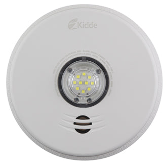 3-in-1 LED Strobe and 10-Year Talking Smoke & CO Alarm