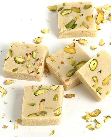 Pista Khoya Barfi | Milk Fudge