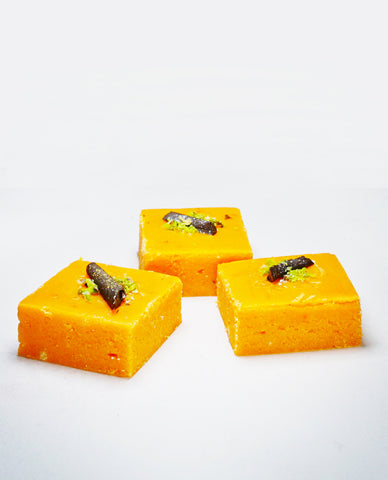 Orange and Chocolate Fudge | Barfi