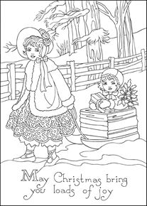 Holiday Sleigh Coloring Page