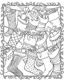 Holiday Stocking Coloring Page
