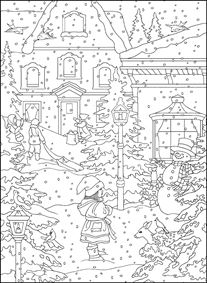 Holiday Snow Coloring Page