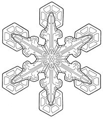 Holiday Snowflake Coloring Page