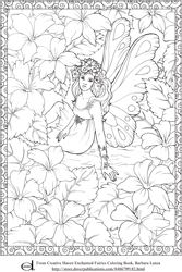 Enchanted Fairy Coloring Page