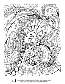 Turkey Coloring Page for Adults
