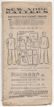 "1930's New York Men's and Boy's Pajamas with 5 Necklines - Chest 34-36"" - No. 1362"