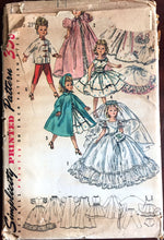 1950's Simplicity Wardrobe, Wedding Dress, Cape, Full Dress, for Revlon and Cissy Doll Pattern- UC/FF - No. 1808