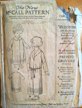 1920's McCall Girl's Robe Pattern - 4-6t - No. 3313