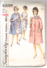 "1960's Simplicity One Piece Dress and Coat Pattern - Bust 34"" - No. 4338"