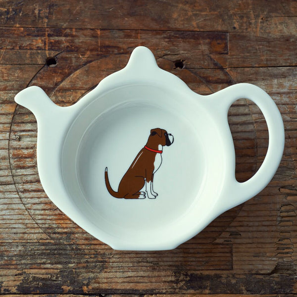 Boxer Tea Bag Dish By Sweet William