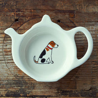 Jack Russel Tea Bag Dish By Sweet William