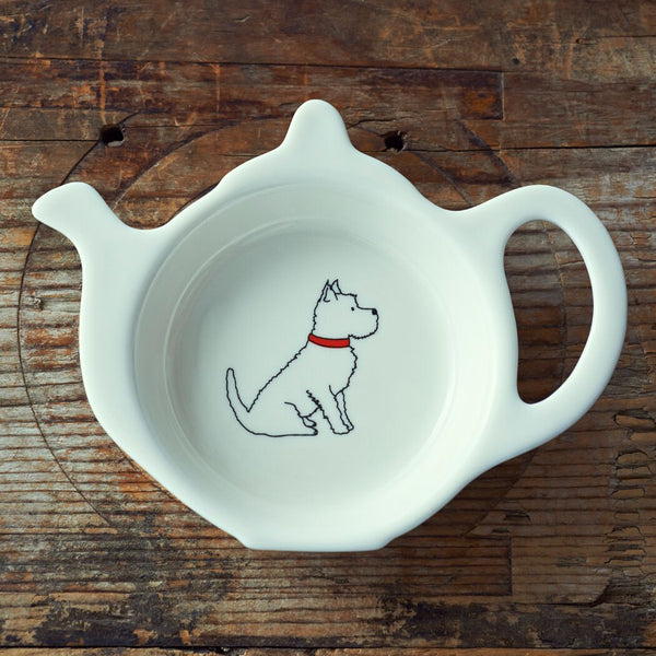 Westie Tea Bag Dish By Sweet William