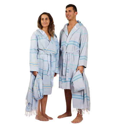 Antalya Unisex Eco-friendly Bathrobe Turquoise
