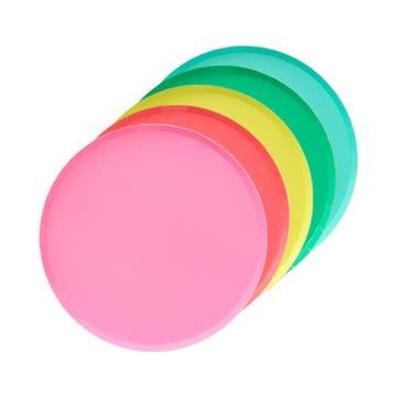 'Rainbow Set' Large Paper Plates