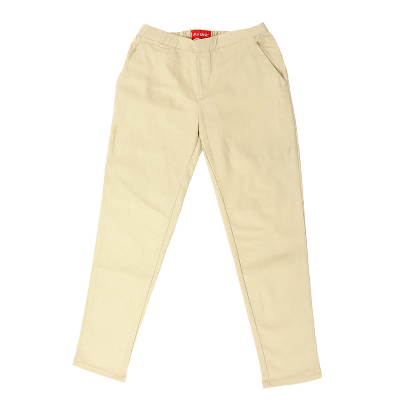 Women Ankle Pants Cream