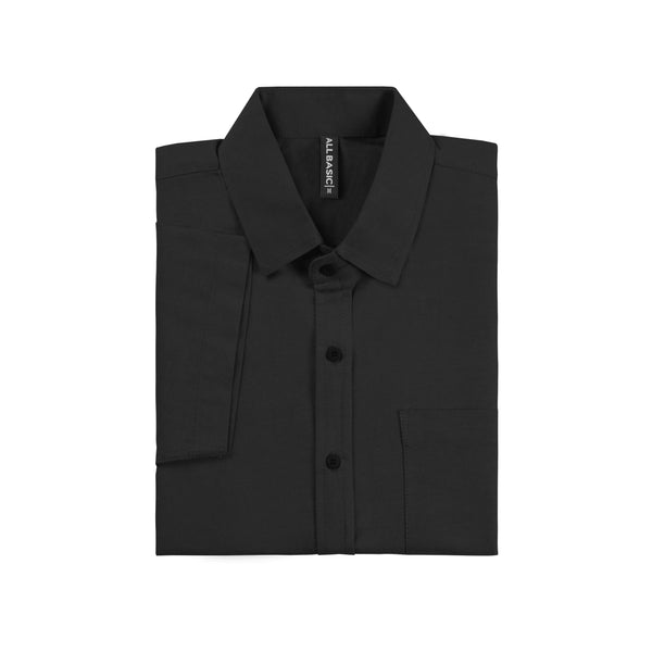 Ramy Short Sleeve Shirt - Black