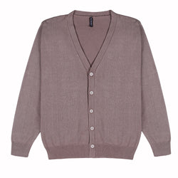 Men Classic Knit Cardigan Brown